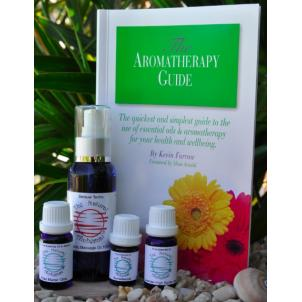 Aromatherapy book, massage oil & essential oils